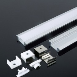 V-Tac VT-8106 Profilo da Incasso in Alluminio per Strisce LED 2MT. - SKU 3350