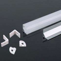 V-Tac VT-8109 Profilo Angolare 45° in Alluminio per Strisce LED 2MT. - SKU 3353