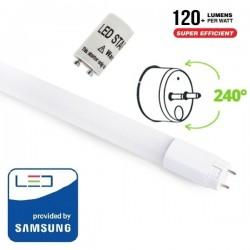 V-Tac PRO VT-062 Tubo LED T8 G13 Nano Plastic 10W 60cm High Lumen CHIP SAMSUNG - SKU 798 | 686 | 687