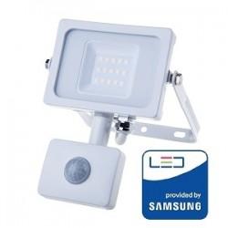 V-Tac Pro VT-10-S Faro LED Chip Samsung 10W Bianco con Sensore di Movimento e Crepuscolare - SKU 433 | 434 | 435
