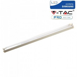 V-Tac PRO VT-12026 Plafoniera con Tubo Led T8 G13 18W 120cm. CHIP SAMSUNG - SKU 6442 | 6443