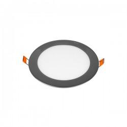V-Tac VT-1207CH Pannello LED Tondo 12W Cromato da Incasso - SKU 6340 | 6341 | 6342