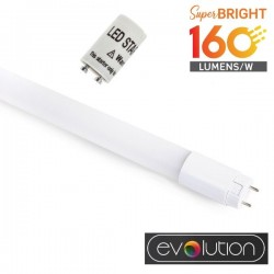 V-Tac Evolution VT-1612 Tubo LED T8 G13 Nano Plastic 12W 120cm High Lumen - SKU 6477 | 6478 | 6479
