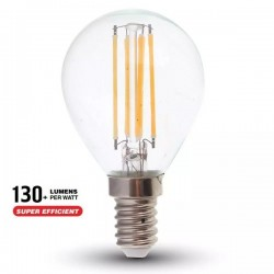 V-Tac VT-2486 Lampadina LED E14 Filamento Mini-Bulbo 6W High Lumen - SKU 2854 | 2855 | 2856