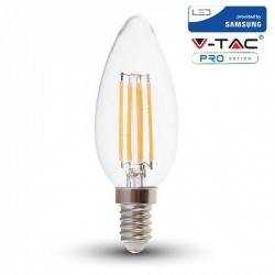 V-Tac PRO VT-254 Lampadina LED E14 Filamento Candela 4W CHIP SAMSUNG - SKU 272