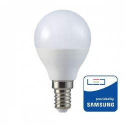 V-Tac PRO VT-270 Lampadina LED E14 Mini-Bulbo 7W CHIP SAMSUNG - SKU 863 | 864 | 865