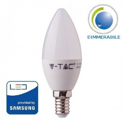 V-Tac PRO VT-293D Lampadina LED E14 Candela 5.5W Dimmerabile CHIP SAMSUNG - SKU 20045