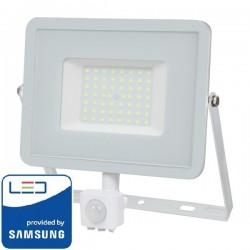 V-Tac Pro VT-50-S Faro LED Chip Samsung 50W Bianco con Sensore di Movimento e Crepuscolare - SKU 466 | 467 | 468