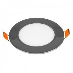 V-Tac VT-607CH Pannello LED Tondo 6W Cromato da Incasso - SKU 6334 | 6335 | 6336