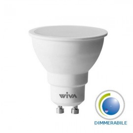 Wiva Lampadina LED GU10 Faretto Spotlight 9W 100° Dimmerabile - Mod. 12100425 | 12100426 | 12100427