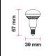 Dimensioni V-Tac VT-1861 Lampadina LED Spot Reflector R39 E14 3W