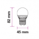 Dimensioni V-Tac VT-1879 Lampadina LED Mini-Bulbo E27 5.5W